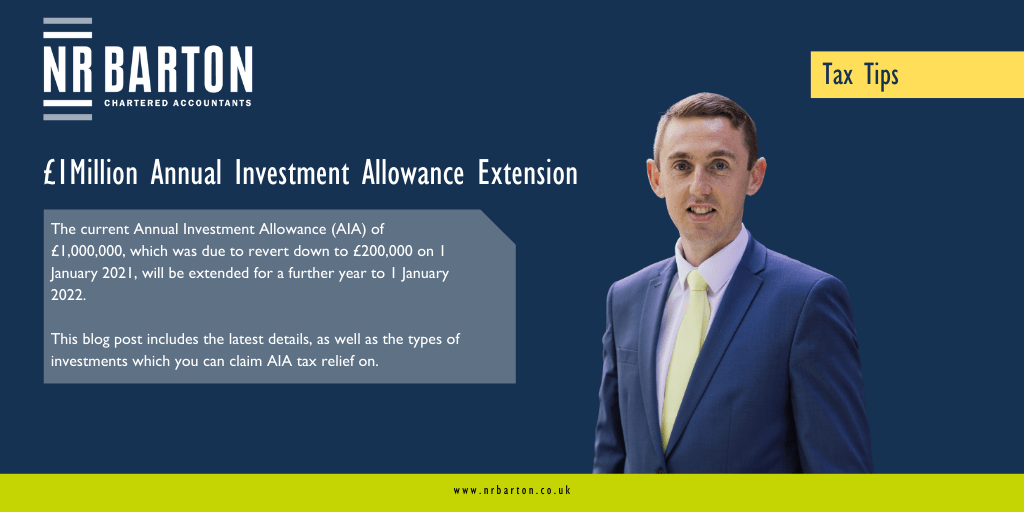 £1Million Annual Investment Allowance Extended