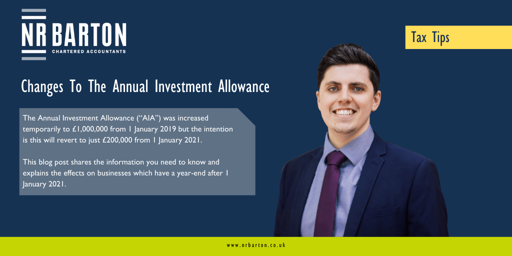 Changes To The Annual Investment Allowance