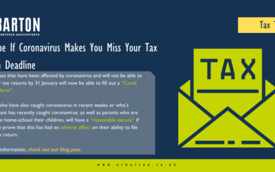 No Fine If Covid Makes You Miss Your Tax Return Deadline