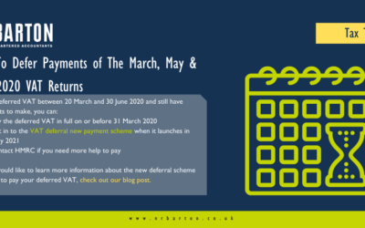 How to defer payment of the March, May & June 2020 VAT returns
