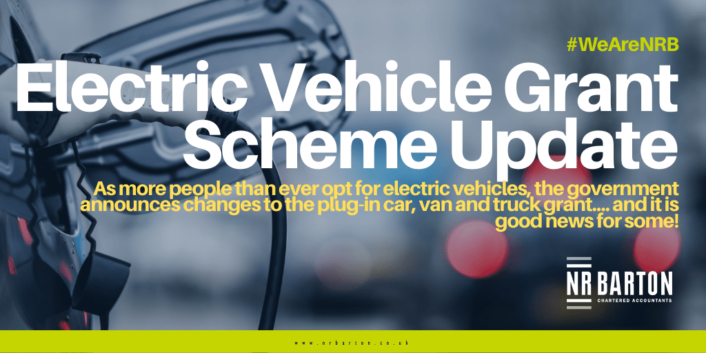 UK government has made changes to the plug-in vehicle grant scheme