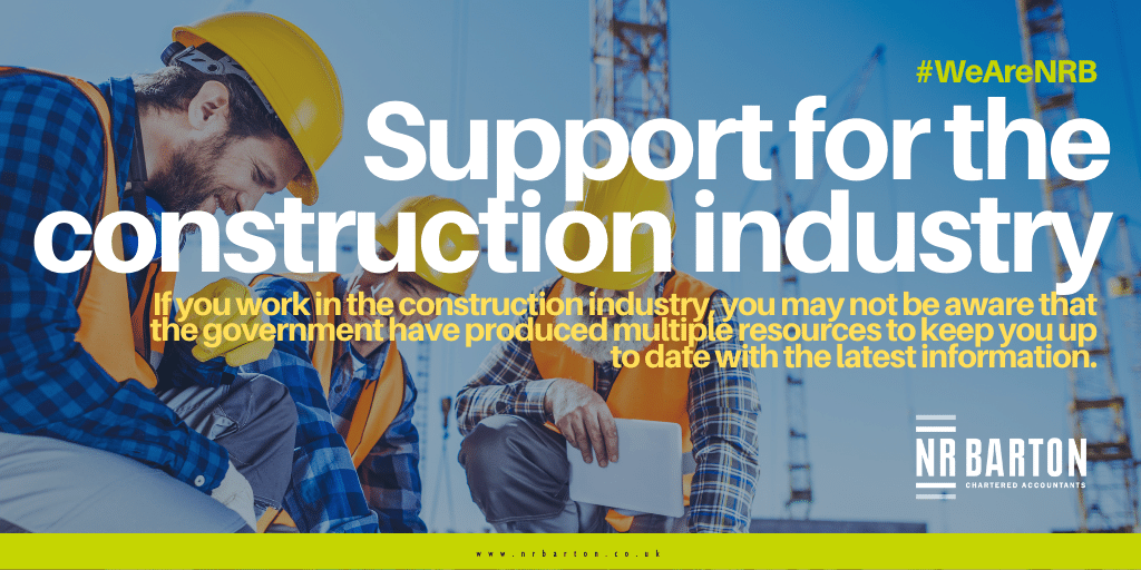 Are you aware of the help and support available for the construction industry?