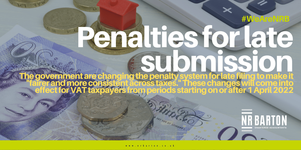 HMRC announce changes to the penalties for late submissions