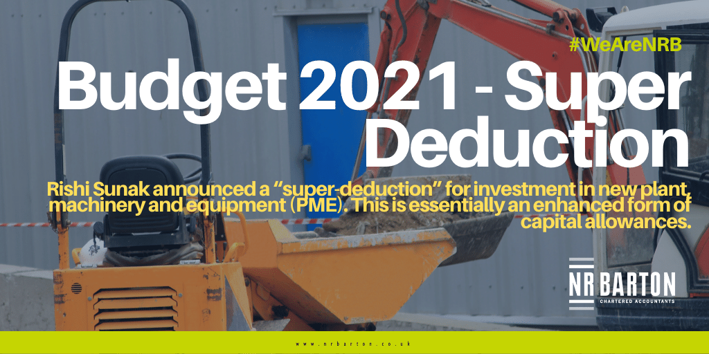 Budget 2021 – Super Deduction