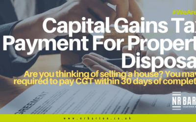 Capital Gains Tax: payment for property disposal